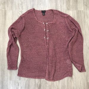 Sigrid Olsen Knit Open Front Sweater/Cardigan